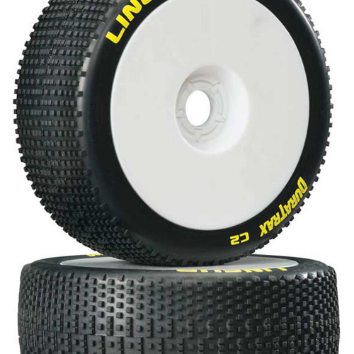 1/8 Lineup Buggy Tire C2 Mounted White (2)