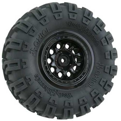 """Revolver"" Crawler Wheels, Wide Base, Black"
