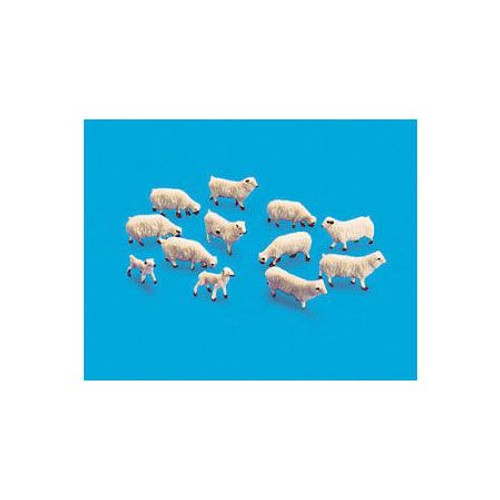 Peco 5110 - HO Sheep & Lambs (12)