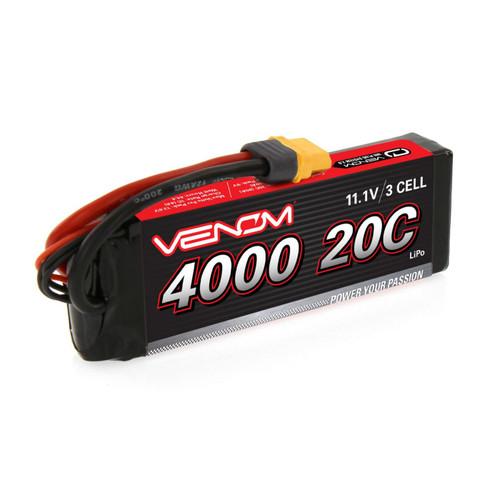 Venom 1580 - DRIVE 20C 3S 4000mAh 11.1V LiPo  : UNI 2.0 Plug