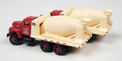 1954 International R-190 Cement-Concrete Tandem HD Truck - Assembled -- Morse Sand & Gravel - Scale: N