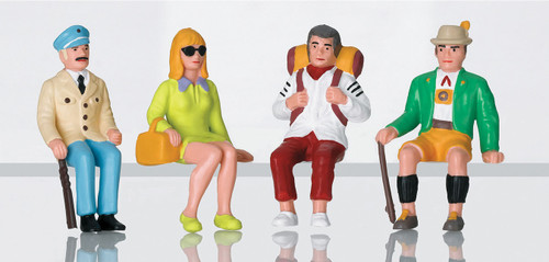 Seated Tourists -- pkg(4) - Scale: G