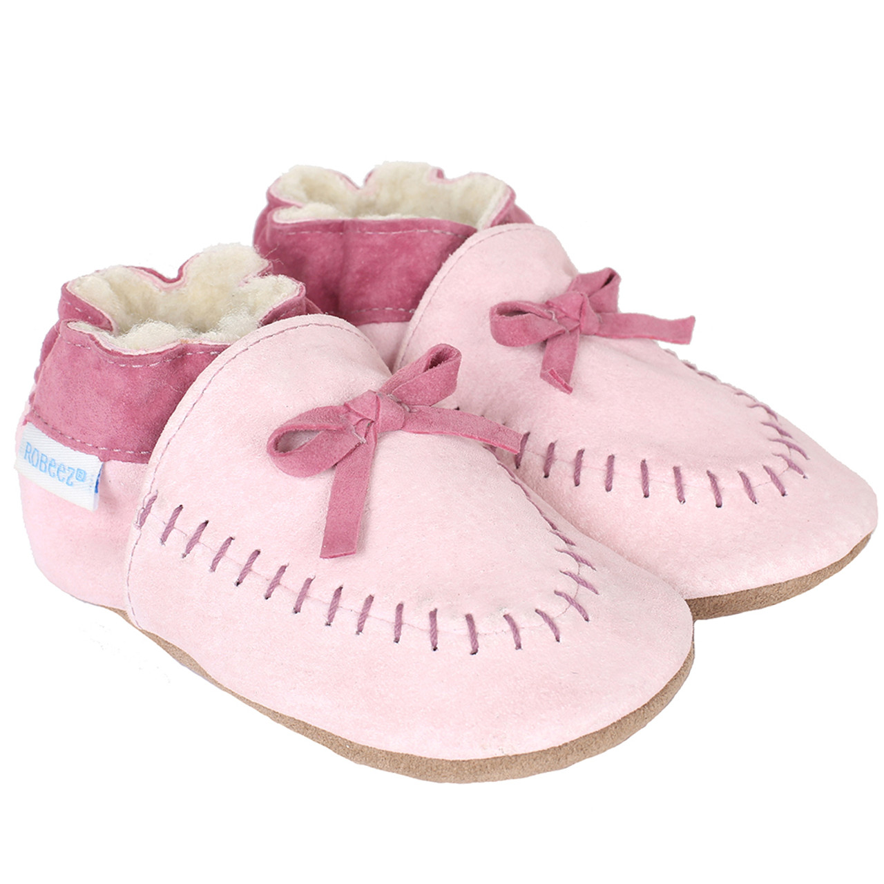 631cd90192336 Robeez Cozy Moccasins Pink Soft Soles