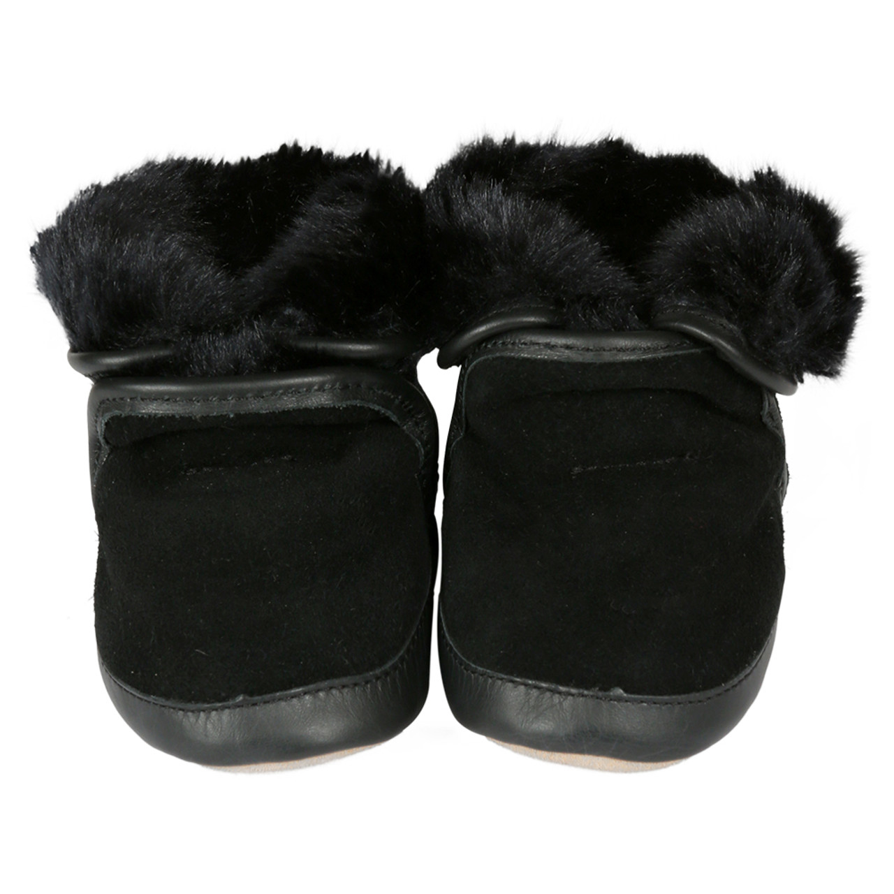 5331a59cdfc7c Robeez Cozy Ankle Boots Black Soft Soles