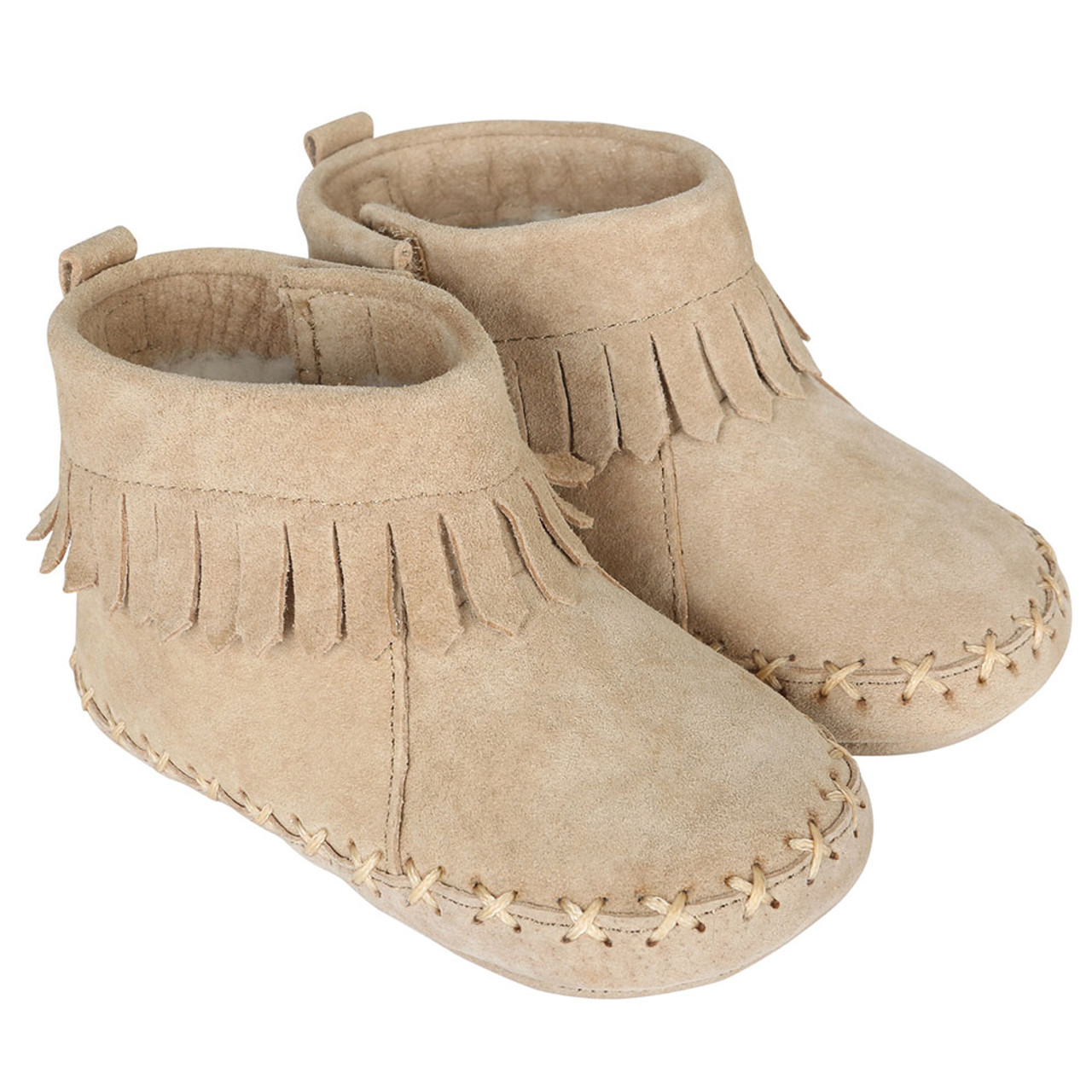 b516b97b9 Cozy Ankle Moccasins Taupe