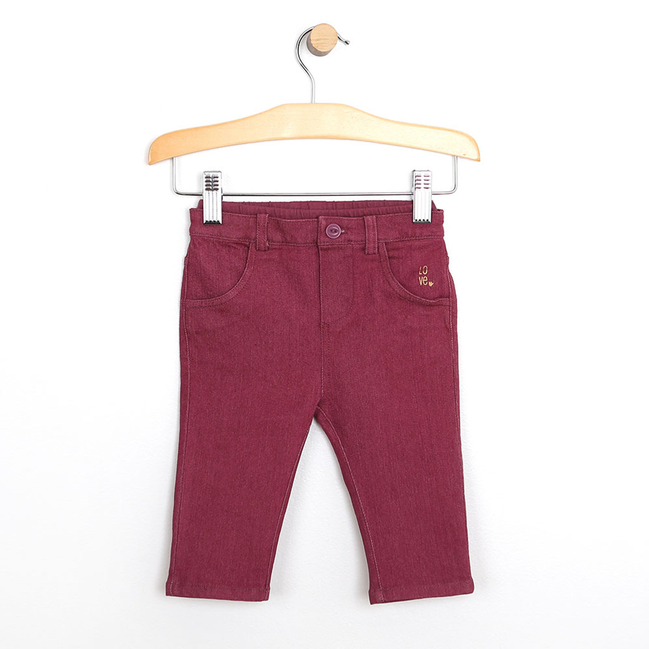 1adca1ae309bad Baby Pants, Super Soft Jeans, Maroon: Girls, Baby, Infant, Toddler ...