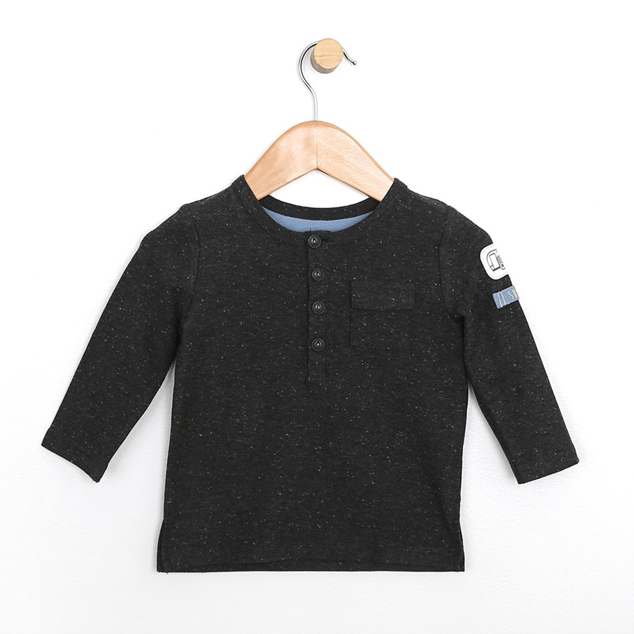 Baby Shirt Speckled Long Sleeve Shirt Boys Baby Infant Toddlers