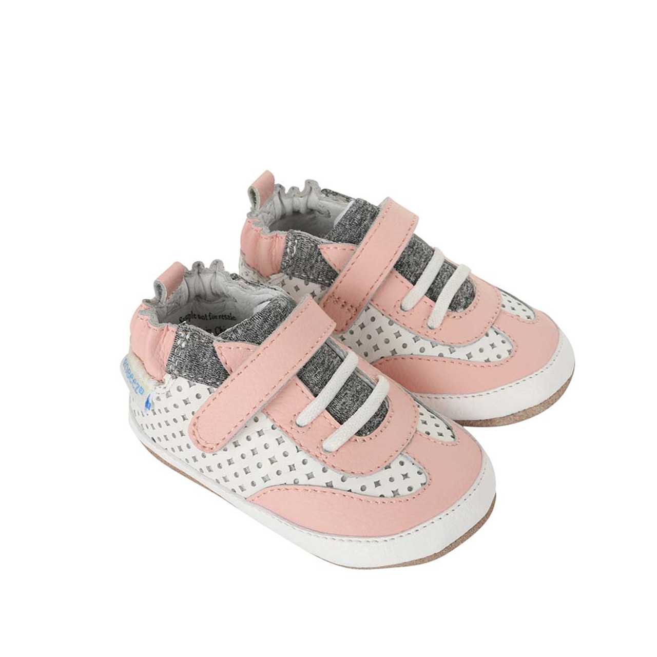 5d471f02 Side view of Katie's Kicks Baby Shoes, a children's athletic shoe for baby,  infant