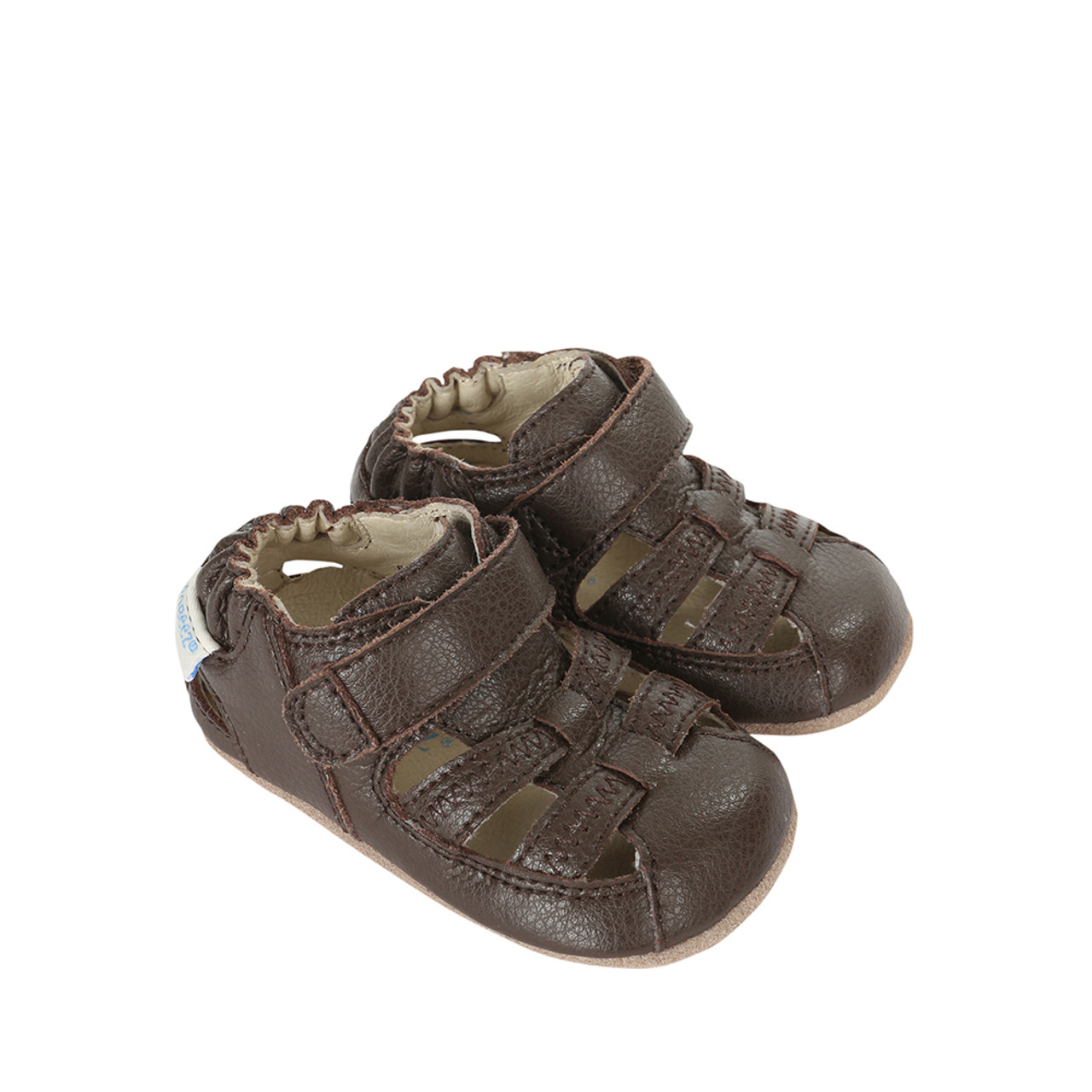 6fc045a52cfa4 Side view of Brown Baby Sandal