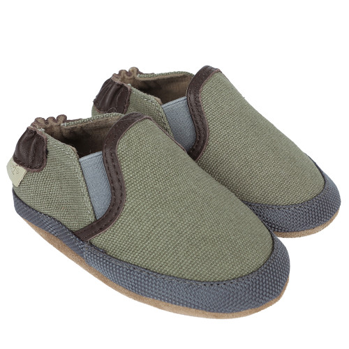 Robeez Oliver Baby Shoes, Soft Soles - Angle