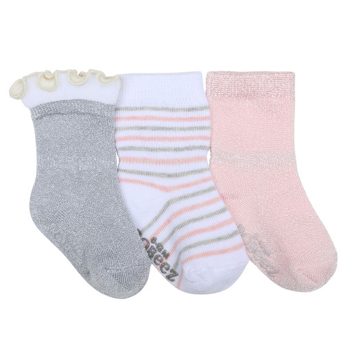Stripes and Dots Baby Socks, 3 Pack