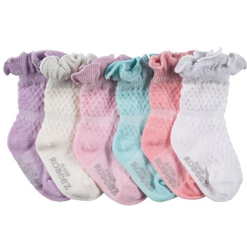 Sparkle Multi Baby Socks, 6 Pack
