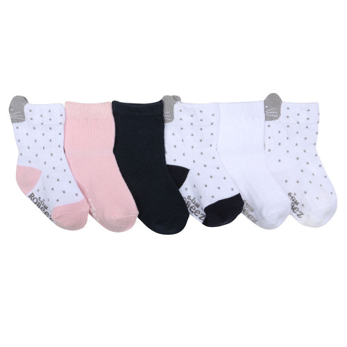 Sweet Kitty Baby Socks, 6 Pack