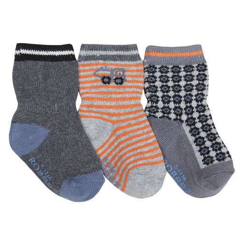 Gravel and Gears Baby Socks, 6 Pack