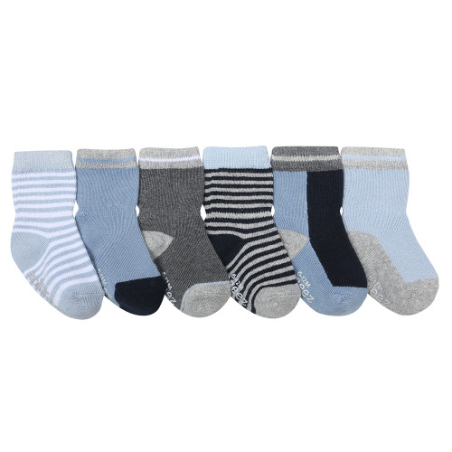 Benjamin Blue Baby Socks, 6 Pack