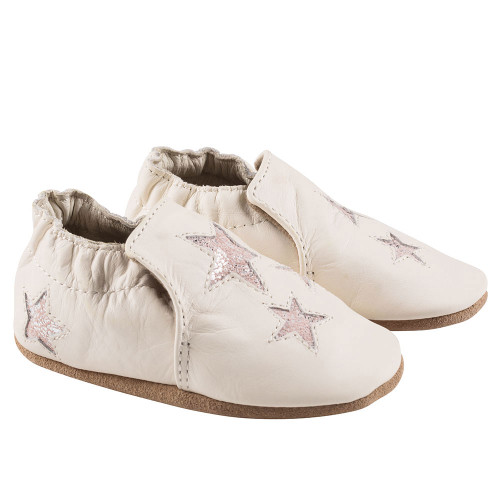 Robeez Ivory Aria Soft Soles - Angle