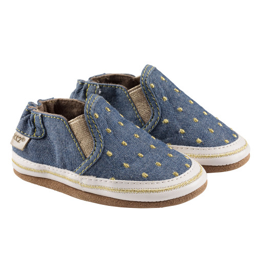 Robeez Navy Isabella Soft Soles - Angle