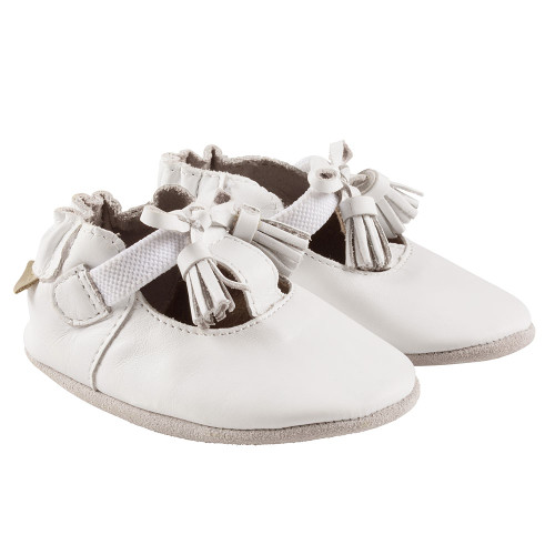 Robeez White Meghan Soft Soles - Angle