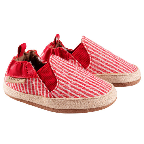 Robeez Red Stripe Waverly Soft Soles - Angle