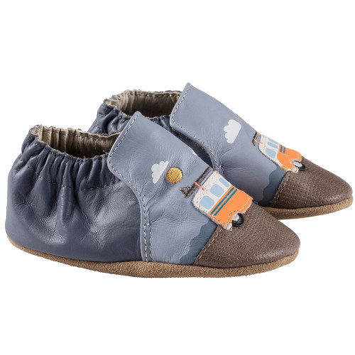 Robeez Blue Surfing Summer Soft Soles - Angle
