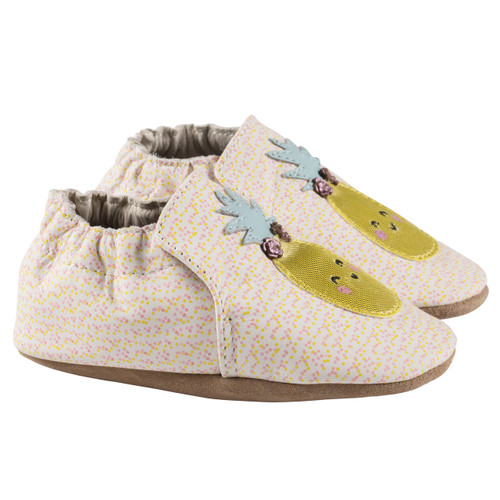 Robeez Beige Happy Fruit Soft Soles - Angle