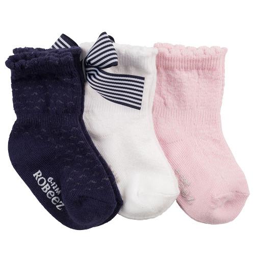 Robeez Lovely Trio Socks,  3-Pack