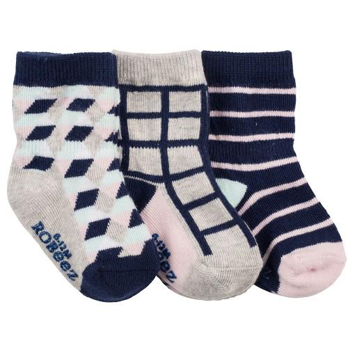 Robeez Modern Mila Socks, 3-Pack