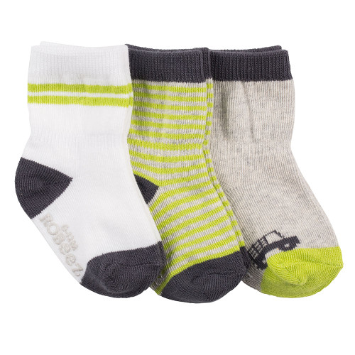 Robeez Farmer Bob Socks, 3-Pack