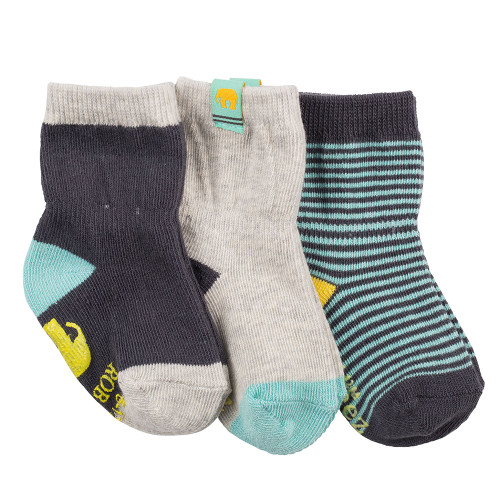 Robeez Eli Elephant Socks, 3-Pack