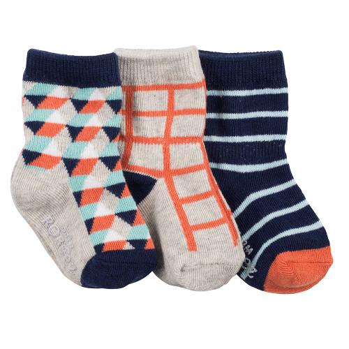Robeez Modern Milo Socks, 3-Pack