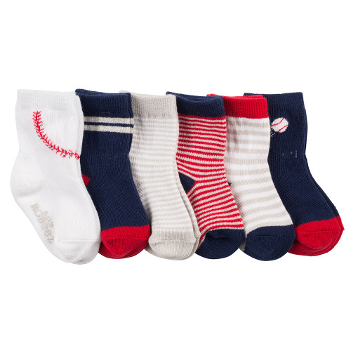 Robeez Batter Up Socks, 6-Pack