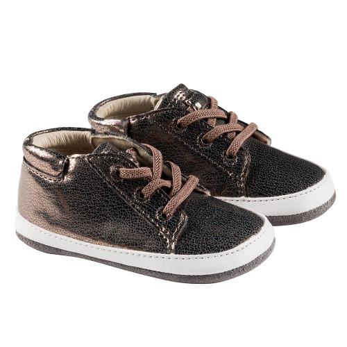 Robeez Bronze Quinn Mini Shoez - Angle