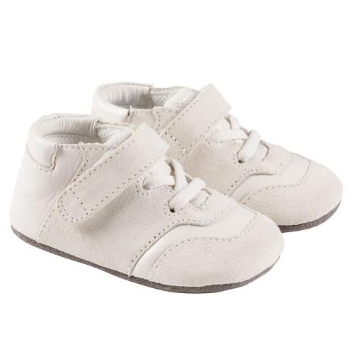 Robeez  White Oakley Mini Shoez - Angle