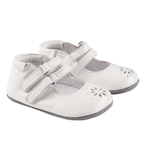Robeez White Audrey Mini Shoez - Angle
