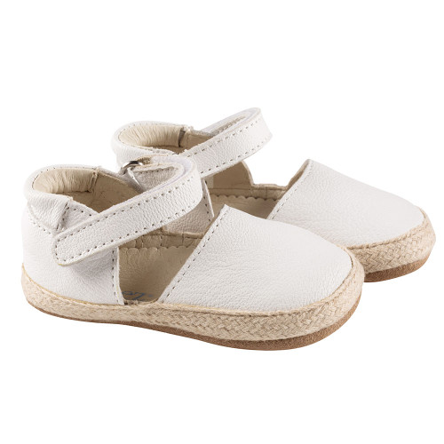 Robeez White Kelly Espadrille First Kicks - Angle