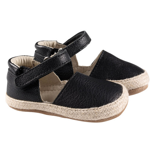 Robeez Black Kelly Espadrille First Kicks - Angle