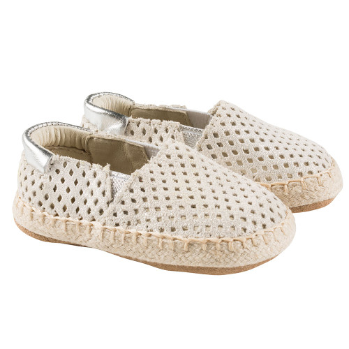 Robeez Gold Ellie Espadrille First Kicks - Angle
