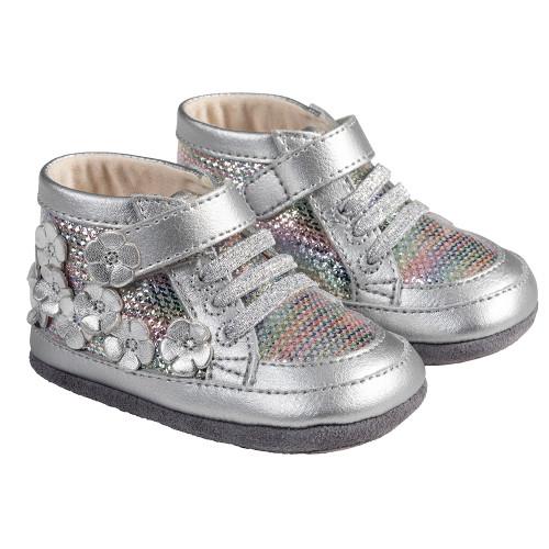Angle - Robeez Silver Zoey Mini Shoez