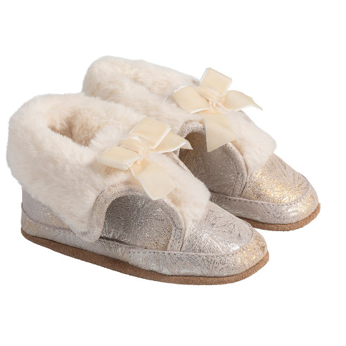 Angle - Robeez Gold Willa Soft Soles Boots