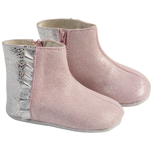 Angle - Robeez Pink Madison Boot First Kicks