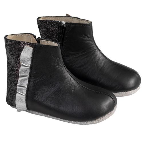 Angle - Robeez Black Madison Boot First Kicks