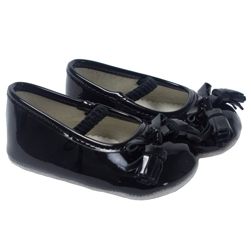 Robeez Black Patent Emily Ballet First Kicks - Angle