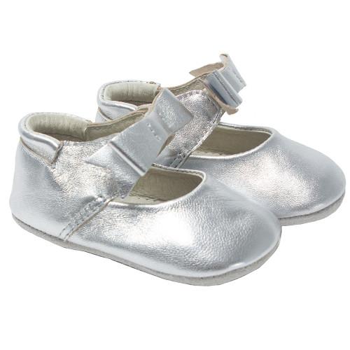 Robeez Silver Sofia  Metallic First Kicks -  Angle