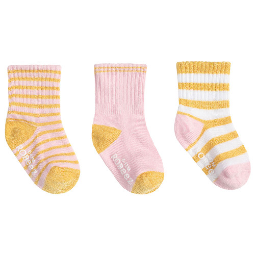Robeez Daily Danielle Socks 3-Pack