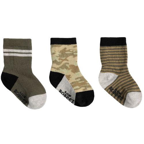 Robeez Jude Camo Socks, 3-Pack