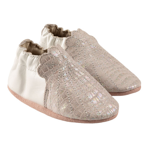 Robeez  Alana Soft Soles, Iridescent Leather - Angle