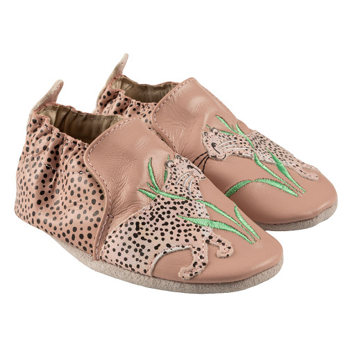 Robeez Lily Soft Soles, Blush Leather - Angle