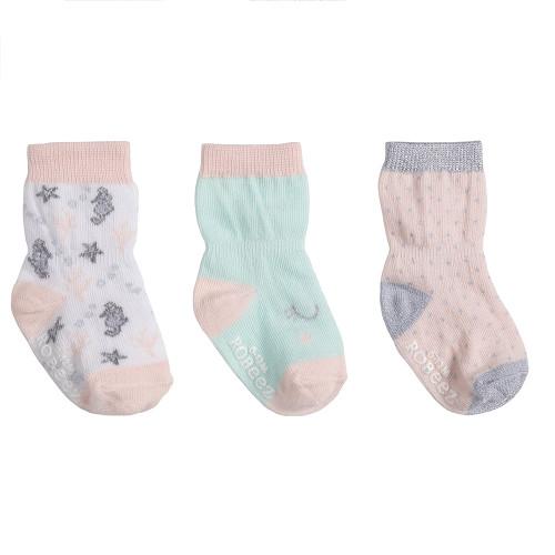 Robeez Coral Socks, 3-Pack