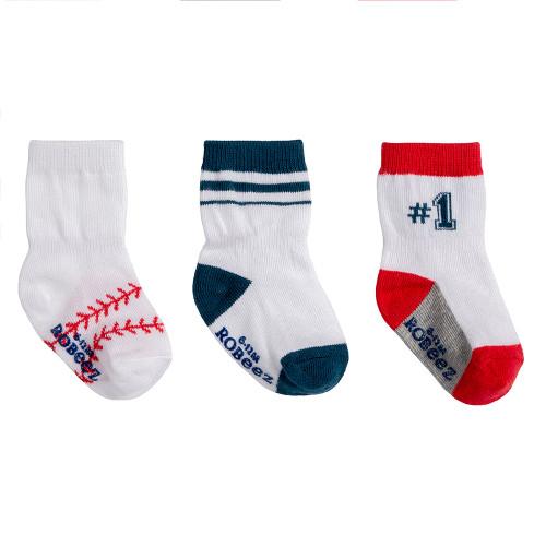 Robeez Baseball Socks, 3-Pack
