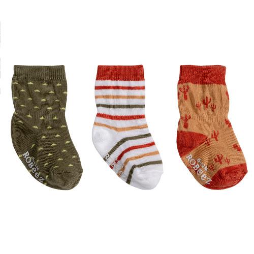 Robeez Indio Socks, 3-Pack